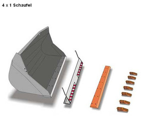 4 in 1_Klapp-Schaufel  Anbaugerät _Radlader mieten leihen