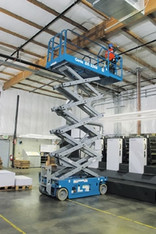 Elektro Scherenarbeitsbühne 12 m / 12m mieten leihen
