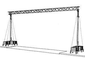 Kabelbrücke  bis 11,50m  Spannweite / Durchfahrtsbreite mieten leihen