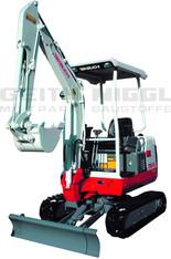 Hybrid-Bagger 1,7 t (Elektro- und Dieselantrieb) mit Schutzdach mieten leihen