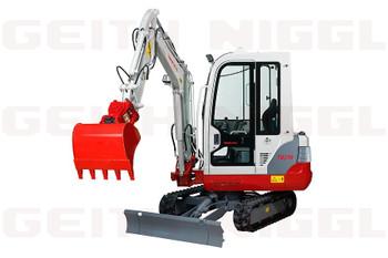 Kompakt-Bagger/Mini-Bagger 2,07 to mit Kabine, Powertilt® und Dachhaken mieten leihen